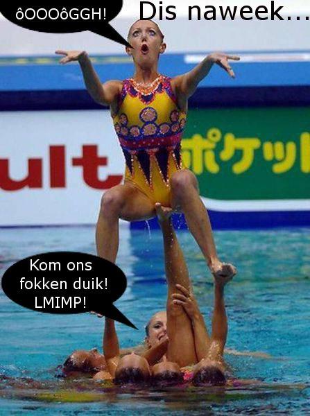 gymnaste duik