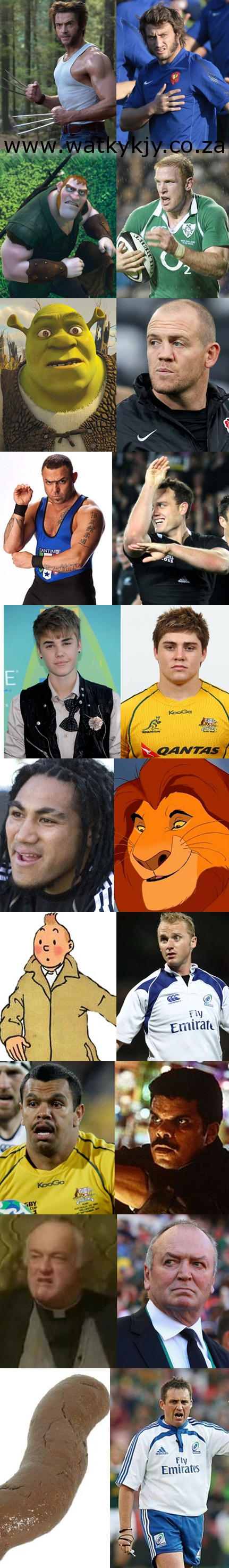 rugby lookalikes