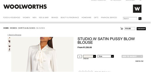 woolworths pussy blouse