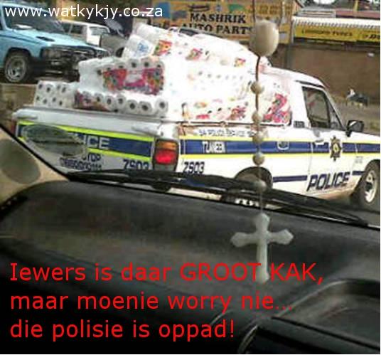 polisie is waar kak gebeur