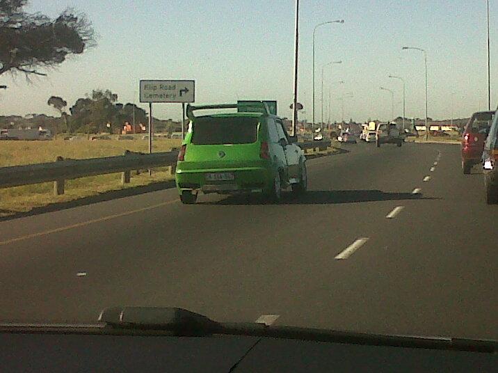 groen trokkie