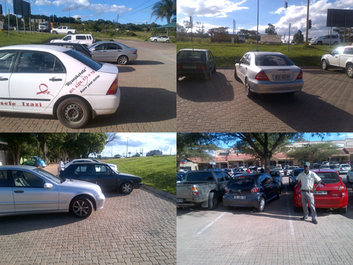 Witrivier poes parkeerders