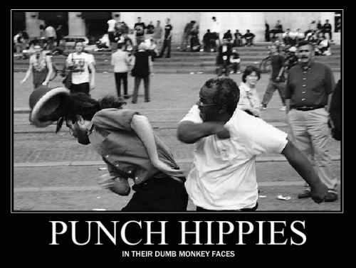 stupid fokken hippies