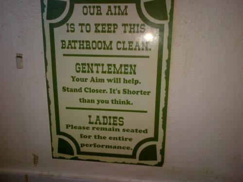 badkamer sign
