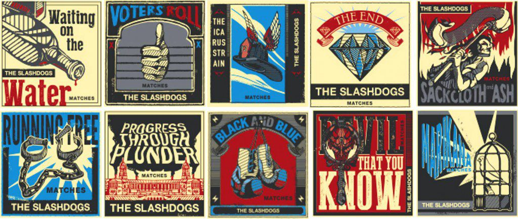 The Slashdogs matchbooks
