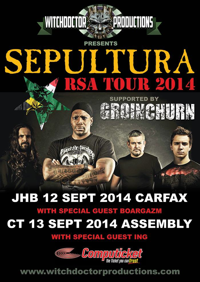 Sepultura coming to South Africa