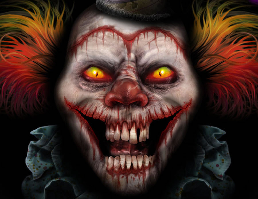 scary faktap clown