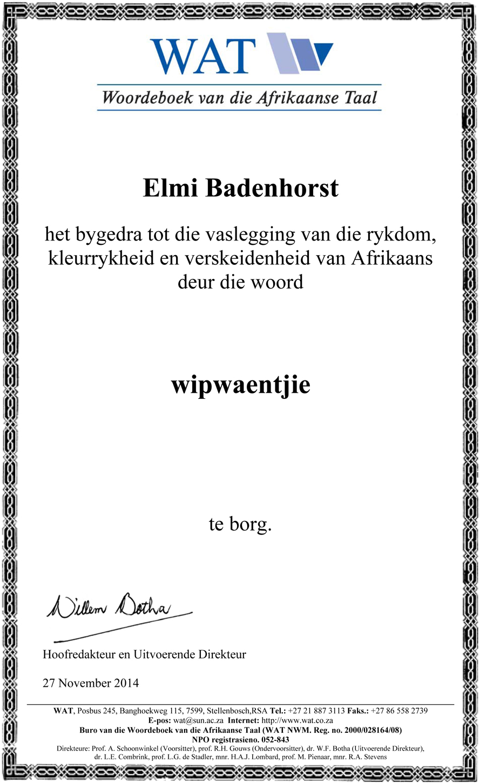 wipwaentjie