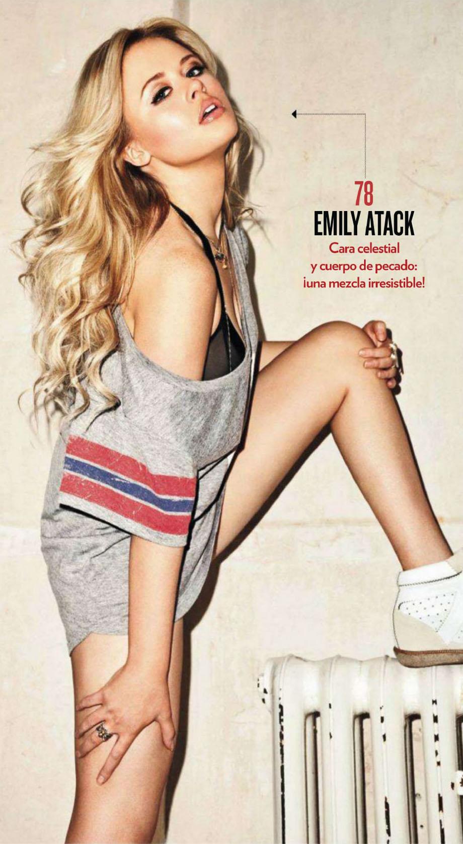 Emily Atack maak die heater warm