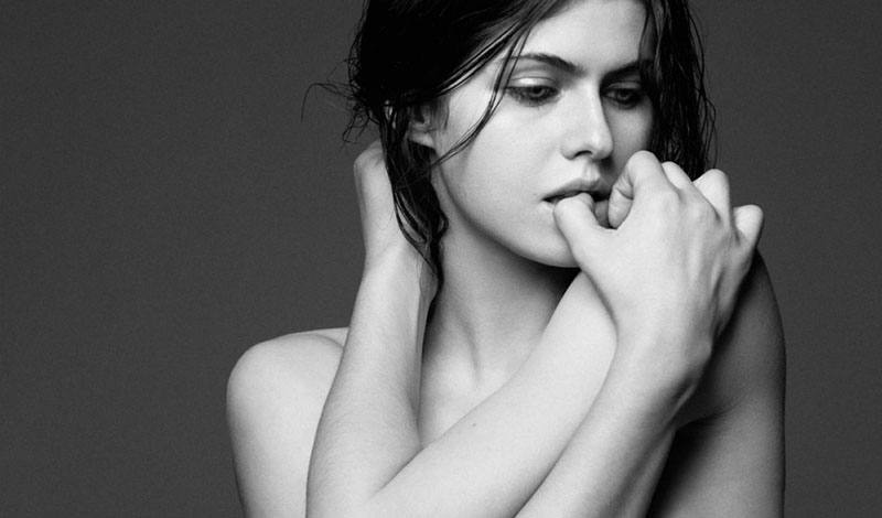 Alexandra Daddario black and white