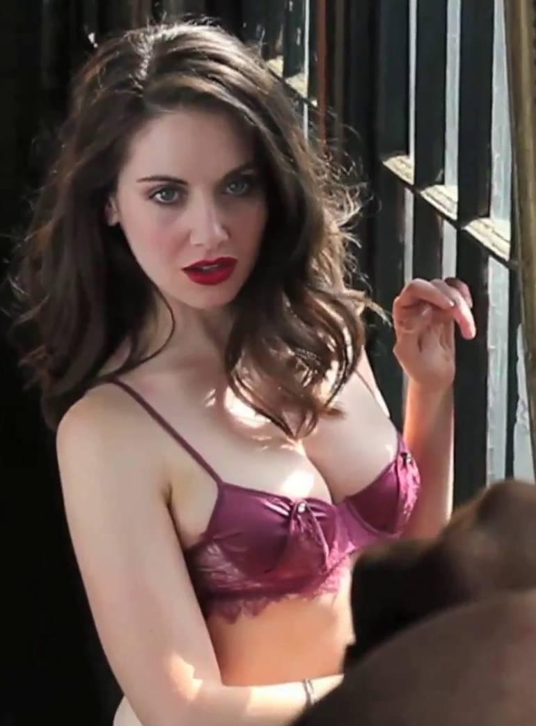 Alison Brie bra