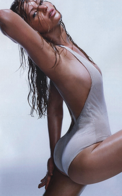 Jennifer Lawrence strek haar boude