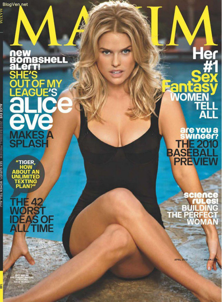 Alice Eve Hot Maxim Photo