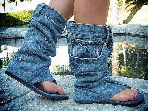 jeanpant skoene