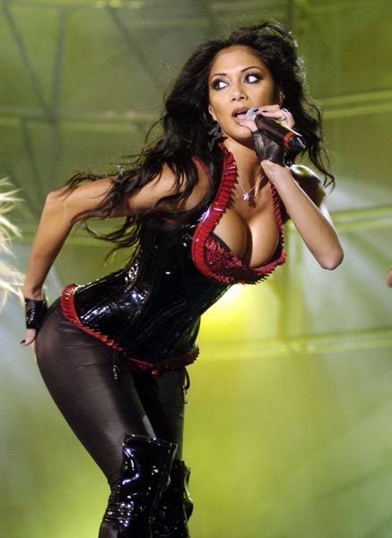 Nicole Scherzinger Performs in Malaga, Spain for the MTV Show August 16, 2008
