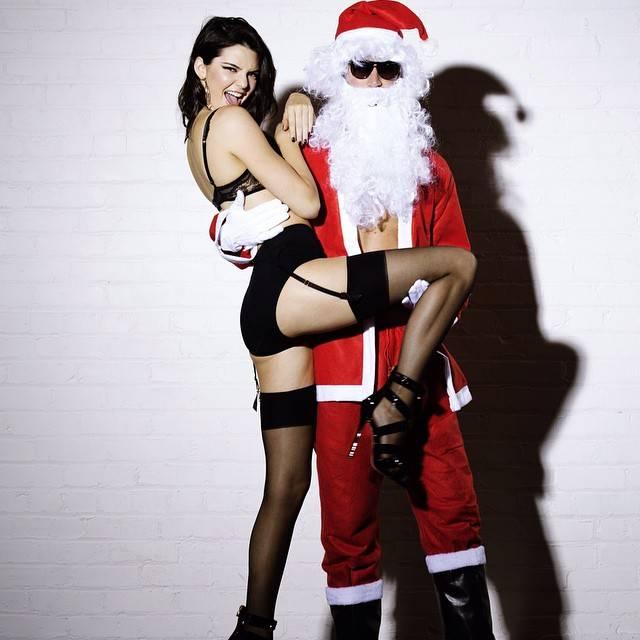 lucky santa met kardashian