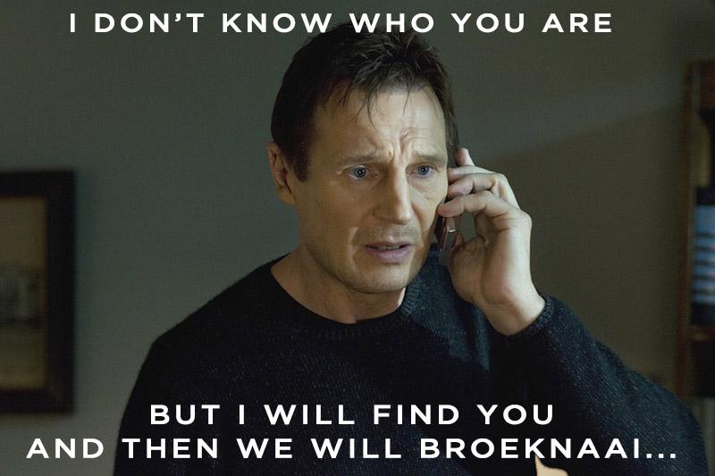 taken broeknaai