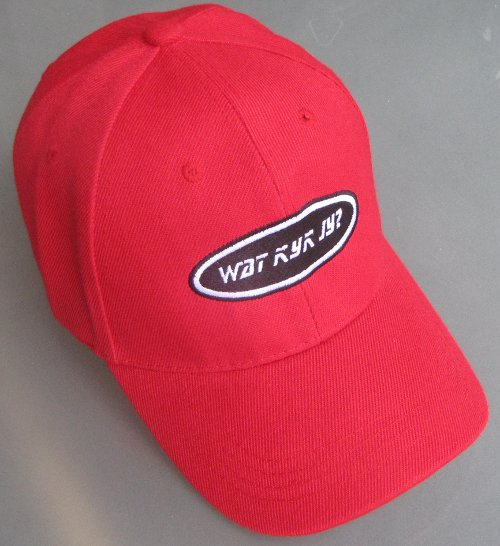 red watkykjy cap