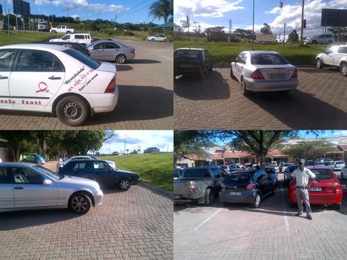 Witrivier poes parkeerders