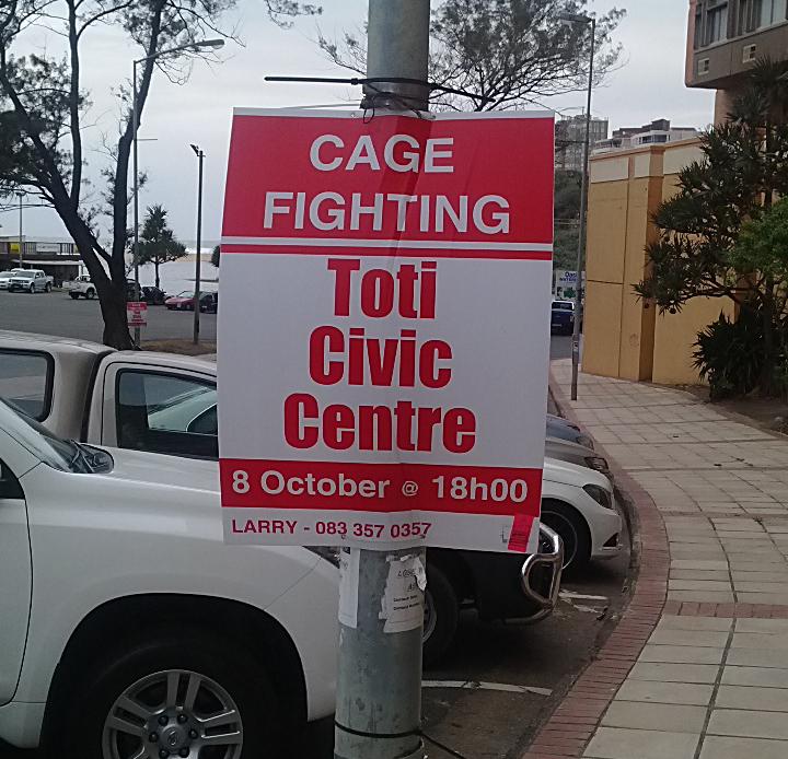 cage fight in toti