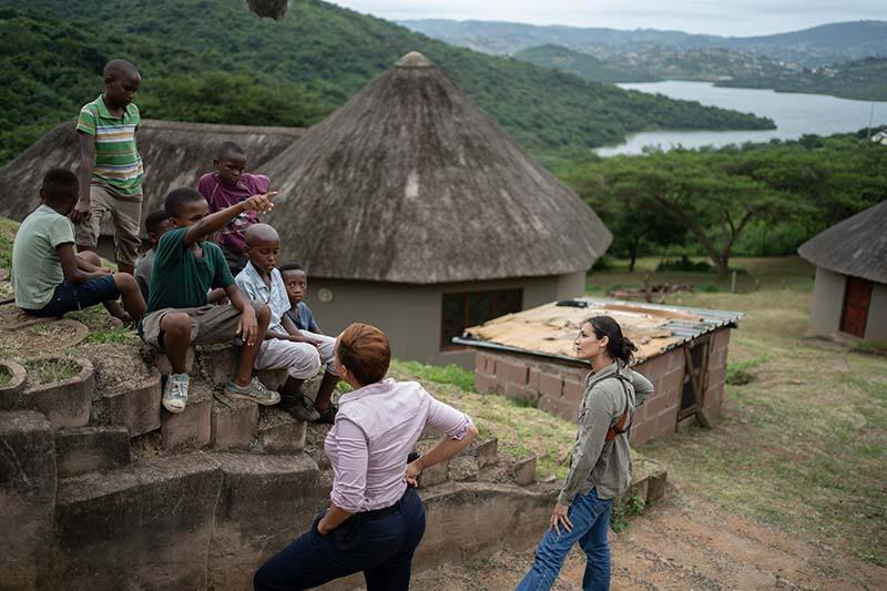 Kim Engelbrecht as Reyka and Thando Thabethe as Nandi